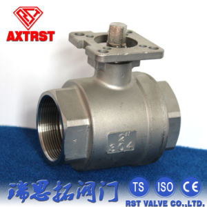 Stainless Steel 2PC Threaded Ball Valve with ISO5211 Mounting Pad pictures & photos