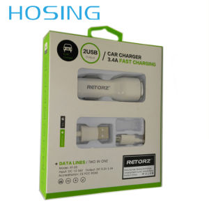 Dual USB Port Car Charger 5V 3.4A for iPhone / Huawei pictures & photos