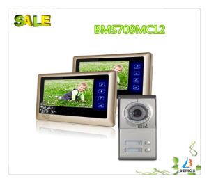 "7"" Color Touch Button Design Brightness Video Intercom Doorphone pictures & photos"