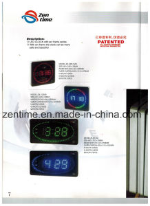 LED Digital Wall Clock with Different Colors in Big Size pictures & photos