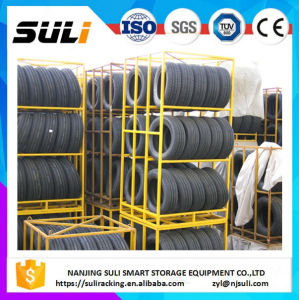 Metal Foldable Type Rack Shelf/Truck Tyre Storage Rack pictures & photos