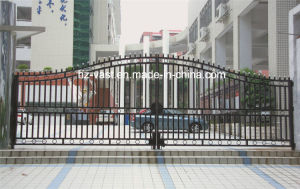 Haohan High-Quality Exterior Security Decorative Wrought Iron Fence Door 5 pictures & photos