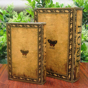 New Vintage Book Style Leather Box for Display/Storage pictures & photos