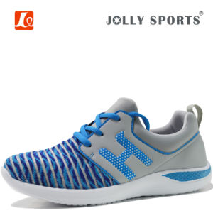 2017 New Sneaker Knit Breathable Leisure Running Shoes for Women Men pictures & photos