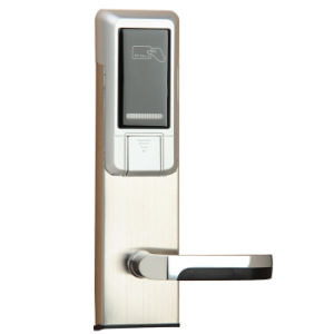 Stainless Steel Standalone Electronic RFID Card Key Hotel Door Lock System pictures & photos