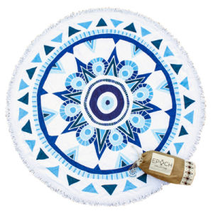 Printed Round Circle Beach Towel with High-Quality pictures & photos