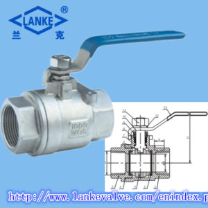 2PC Float Ss304/Ss316 Ball Valve for Industry Use