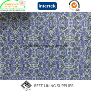 100 Polyester Men′s Jacket Print Lining Fabric Supplier pictures & photos