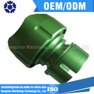 CNC Components Aluminum Precision Machining Part with Green Anodized pictures & photos
