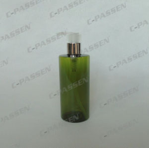 300ml Plastic Packaging Green Pet Bottle with Lotion Pump (PPC-PB-063) pictures & photos