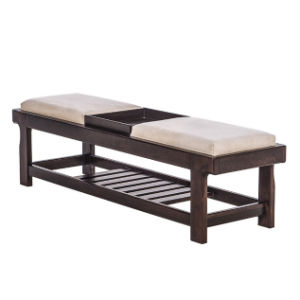 Modern Hotel Furniture Wooden Bed End Stool with Storage Shelf pictures & photos