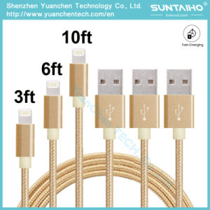 USB Data Charger Cable Nylon Braided Wire Metal Plug Micro USB Cable for iPhone 6 6s Plus 5s 5 iPad pictures & photos