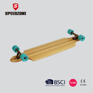 40 Inch Free Ride Bamboo Deck Longboard pictures & photos
