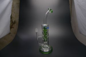 D&K Newest Glass Water Pipes Heavy Bases Glass Bubbler Glass Oil Rig with Quartz Nail and Bowl pictures & photos