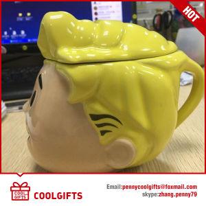 Customized Cartoon Design Ceramic Mug with Lid (CG216) pictures & photos