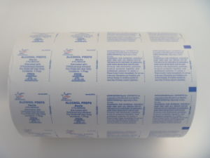 FDA Certificate Aluminum Foil Laminated Paper for Alcohol Prep Pads pictures & photos