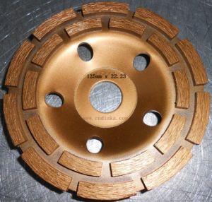 Diamond Double Rows Cup Wheel (SZJ7245) for Polishing Stones pictures & photos