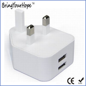 UK Pin Dual Port USB Travel Charger (XH-UC-013S) pictures & photos