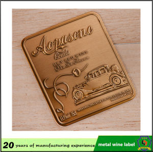 Embossed Metal Bottle Label pictures & photos
