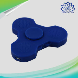 Blue and White Plastic Fidget Toy LED Light Finger Hand Gift Spinner with Bluetooth Speaker pictures & photos