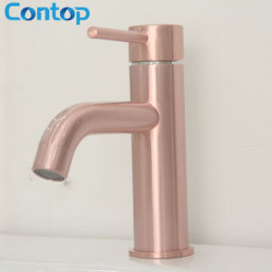 Bathroom Products Solid Brass Rose Gold Basin Mixer pictures & photos
