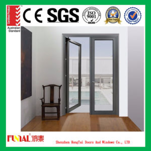 2.0mm Thickness Aluminum Frame Double Tempered Glass Door pictures & photos