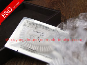 Hotel Amenities Disposable Plastic Shower Cap in Aluminum Foil Bag pictures & photos