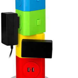 Multifunctional Colorful Electricity Strip Plug with USB Port Fast Charging pictures & photos