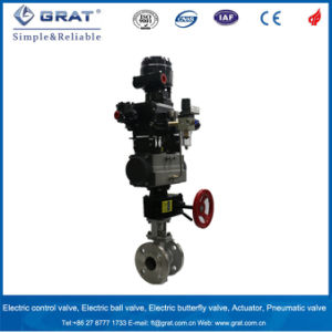 Explosion-Proof Pneumatic Ball Valve with Hand Wheel pictures & photos