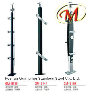 Matte Black Stainless Steel Railing Pillars (GM-B136 / GM-B144 / GM-B129) pictures & photos