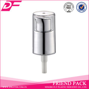 Fine Aluminum Cream Pump with Plastic Transparent Head Cap