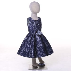 Blue Lace Flower Girl Dress pictures & photos