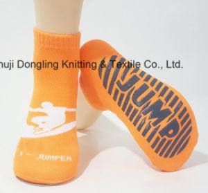 Trampoline Cotton Anti-Slip Non Skid Non-Skid Sock Sport Sock pictures & photos