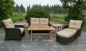 Half Moon Curve Flat Wicker Sofa Set pictures & photos