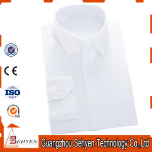 Factory Men Cotton Dress Shirt Formal Business Shirt with Plain pictures & photos