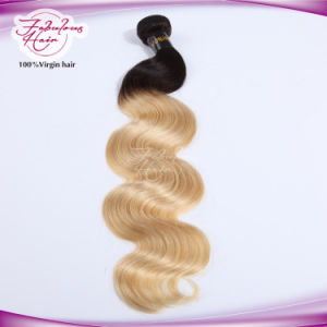 Full Cuticle Body Wave Original Peruvian Virgin Hair 1b/613# pictures & photos