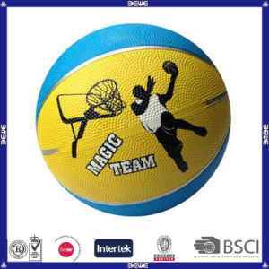 2017 Hotsale Size #7 Rubber Basketball for Youth pictures & photos