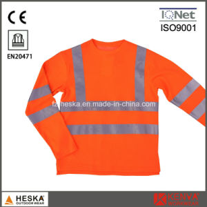 Mens Knitted Safety Hi Vis Long Sleeve Shirt pictures & photos