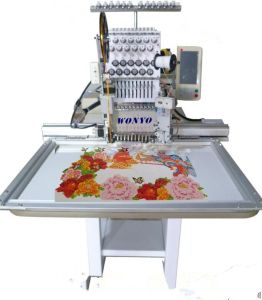 12/15 Colors Computer Single Head Cap& Flat&T-Shirt Embroidery Machine with 1200 Spm High Efficient Embroidery Machine for Sale pictures & photos