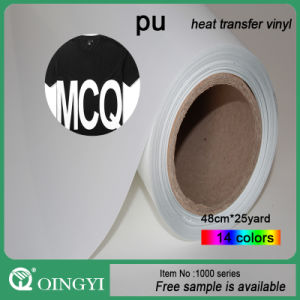 Qin Gyi Flex PU Heat Transfer Vinyl for Clothing and Bag pictures & photos