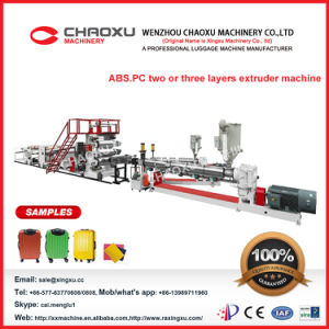 Whole Line Trolley Bag Making Machine in ABS. PC Material pictures & photos