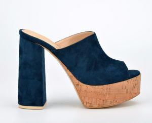 Lady Casual Microfiber Cork Platform Women High Heels Sandals (CIF) pictures & photos