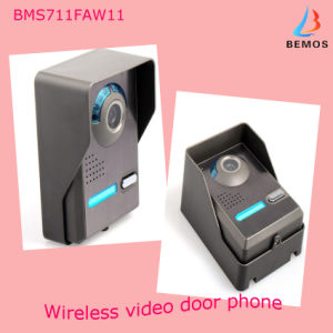 "7""TFT-LCD Wireless Recordable Video Door Phone Doorbell 4G SD Card pictures & photos"