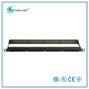 0.5u 24 Port CAT6 UTP Patch Panel pictures & photos