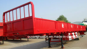 11 Meters Gooseneck and Flatbed Semitrailer with Side Wall pictures & photos