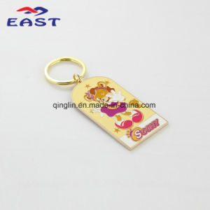 Cute Cartoon Character Design Gold Metal Keyring pictures & photos
