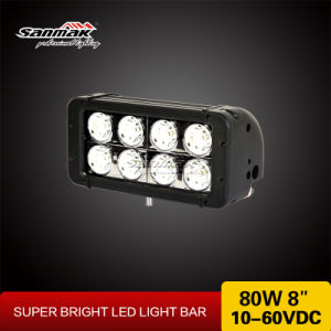 ATV Parts 8′′ 80W CREE High Output LED Lgiht Bar pictures & photos