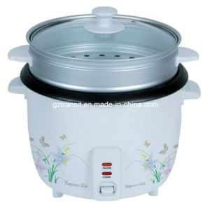 Electric Rice Cooker with Steamer & Glass Lid Kitchen Appliance pictures & photos