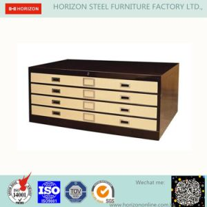 Steel Safe Office Furniture with 2 Retractable Doors Filing Cabinet
