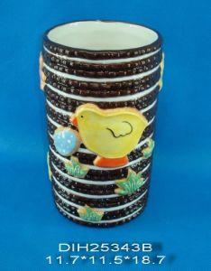 Hand-Painted Ceramic Round Flower Vase pictures & photos